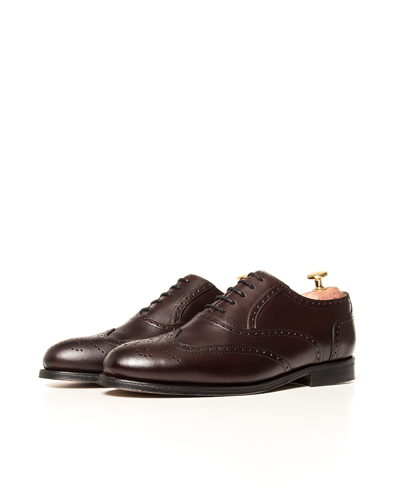 Zapatos Brogue Burdeos