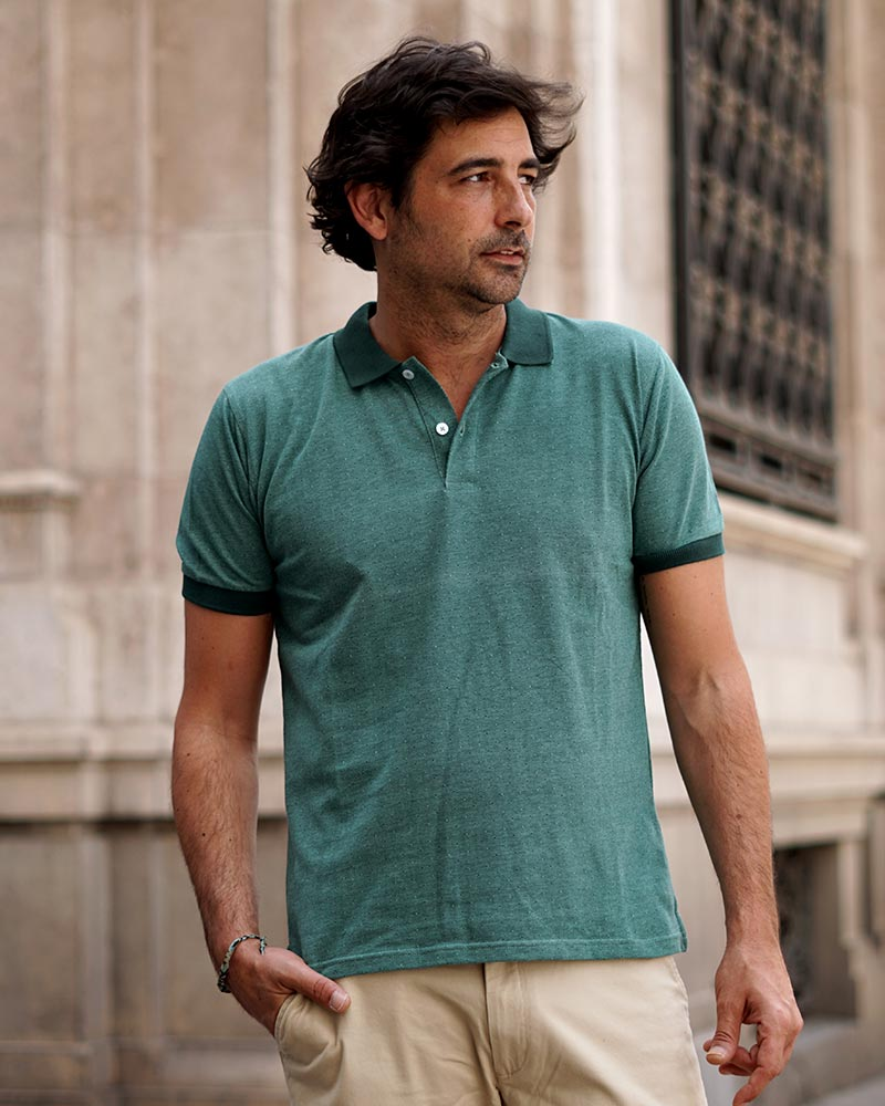 Polo Estampado Verde